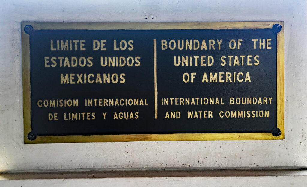 The Mexico-U.S. border.