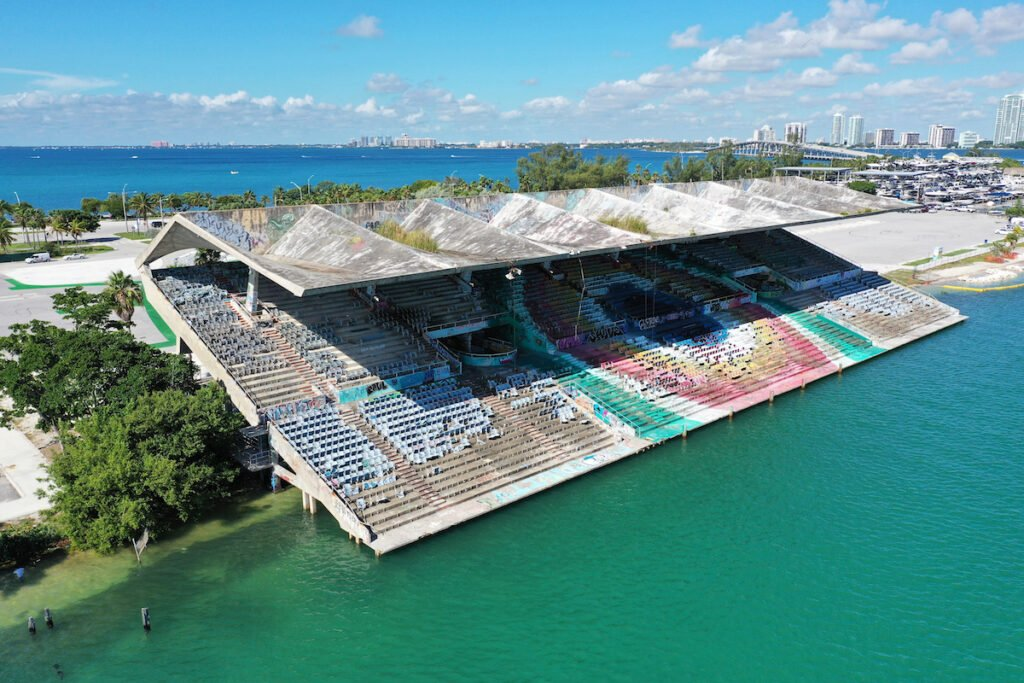 The Miami Marine Stadium in Key Biscayne, Florida.