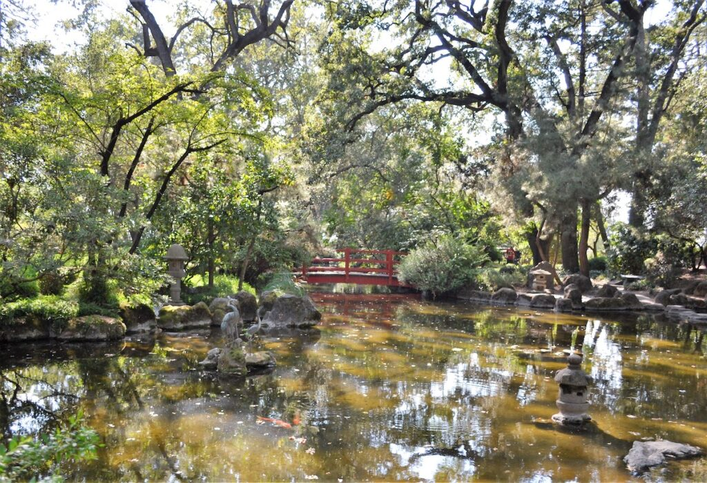 The Micke Grove Japanese Garden in Lodi, California.