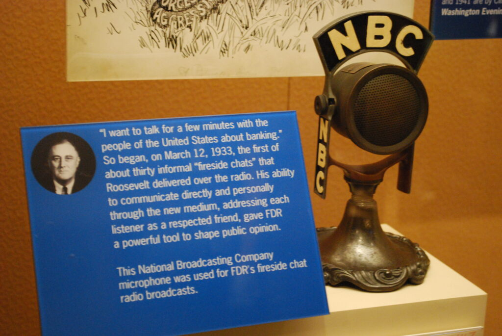 The microphone FDR used for his Fireside Chats.