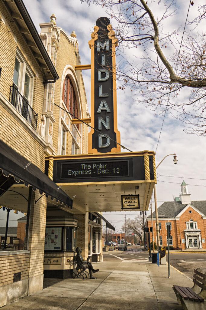 The Midland Theatre in Newark, Ohio.