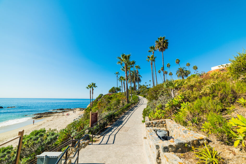 The mile-long path through Heisler Park in Laguna Beach.