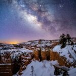 The Milky Way over Bryce Canyon National Park.