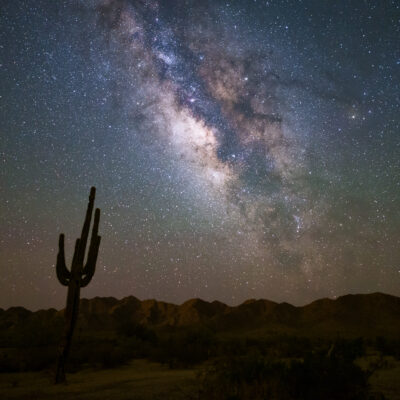 The Milky Way over the Arizona desert.