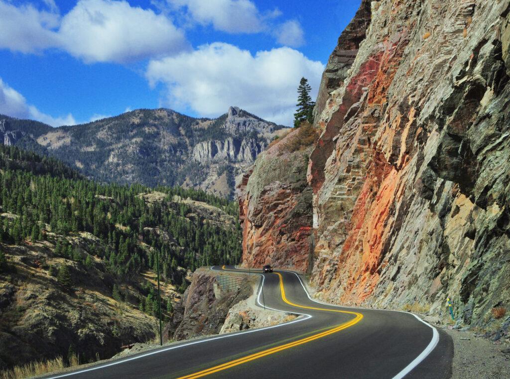 The Million Dollar Highway in Colorado.