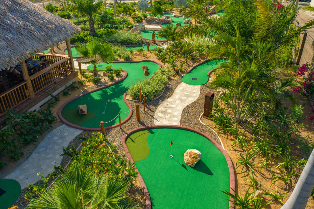 The mini golf course at Sirenian Bay.