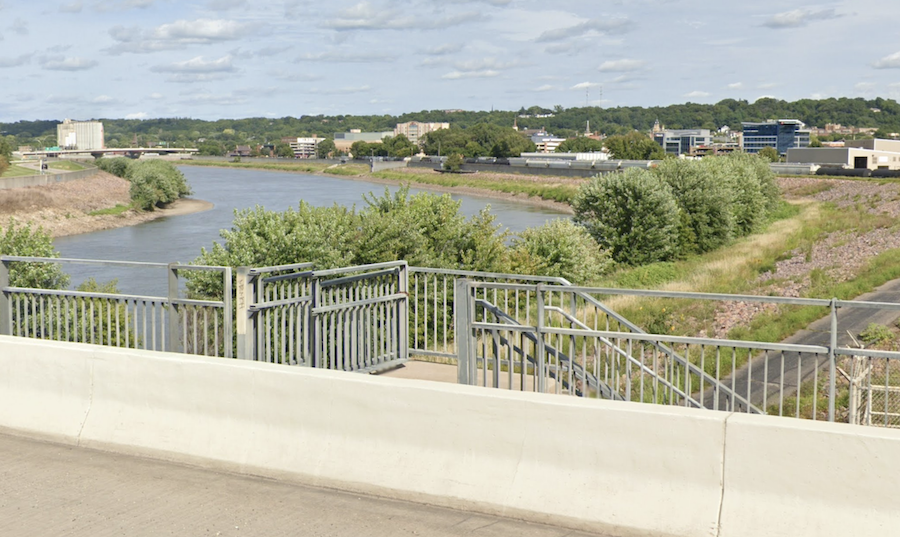 The Minnesota River Trail in Mankato, Minnesota.