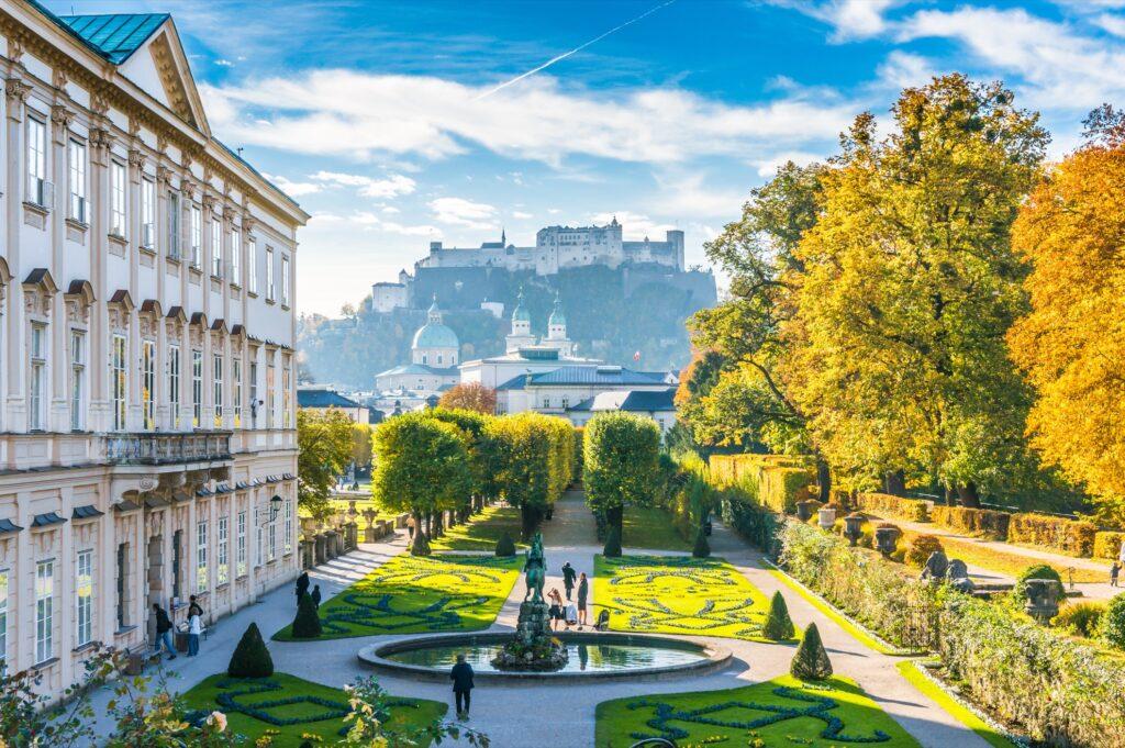 The Mirabell Gardens in Salzburg, Austria.
