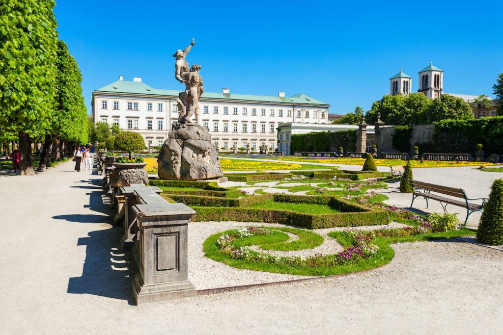 The Mirabell Palace and Gardens in Salzburg.