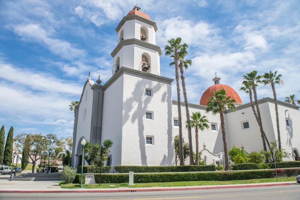The Mission Basilica in San Juan Capistrano, California.