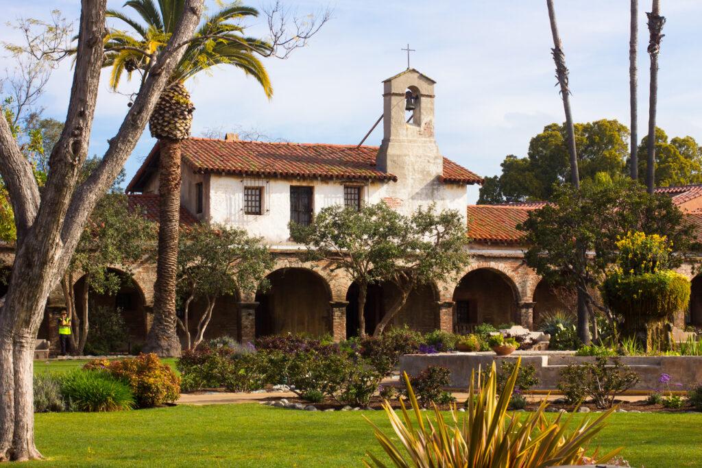 The Mission San Juan Capistrano in Califoria.
