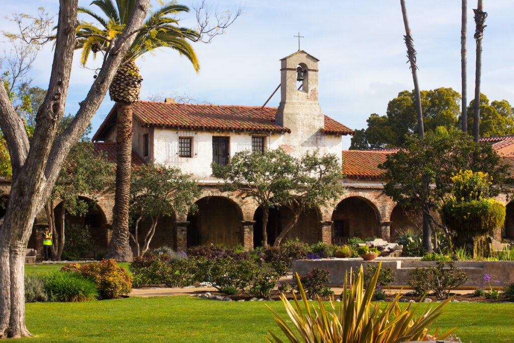 The Mission San Juan Capistrano in California.
