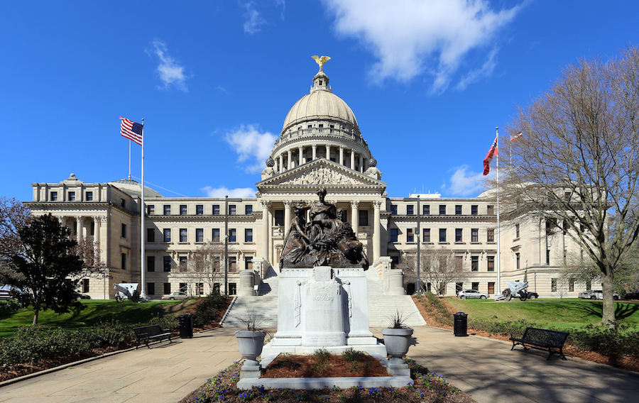 The Mississippi State Capitol building in Jackson.