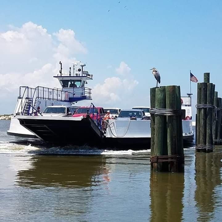 The Mobile Bay Ferry near Fort Morgan in Alabama.