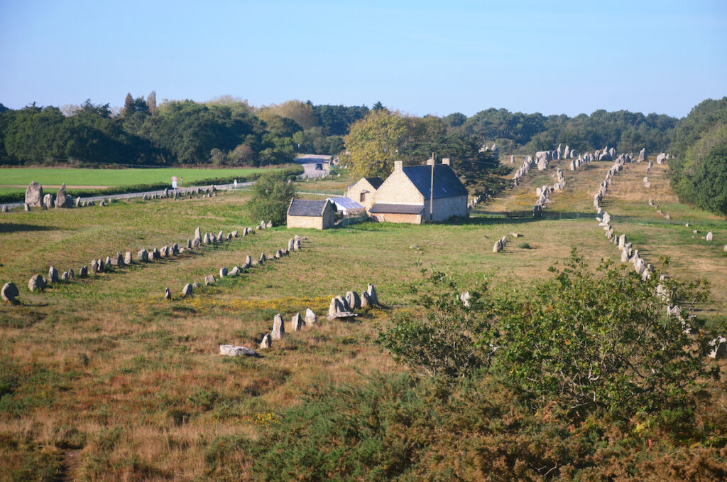 The monolithic stones at Carnac in Brittany, France.