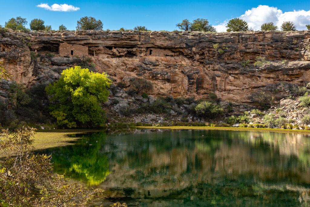 The Montezuma Well in Verde Valley, Arizona.