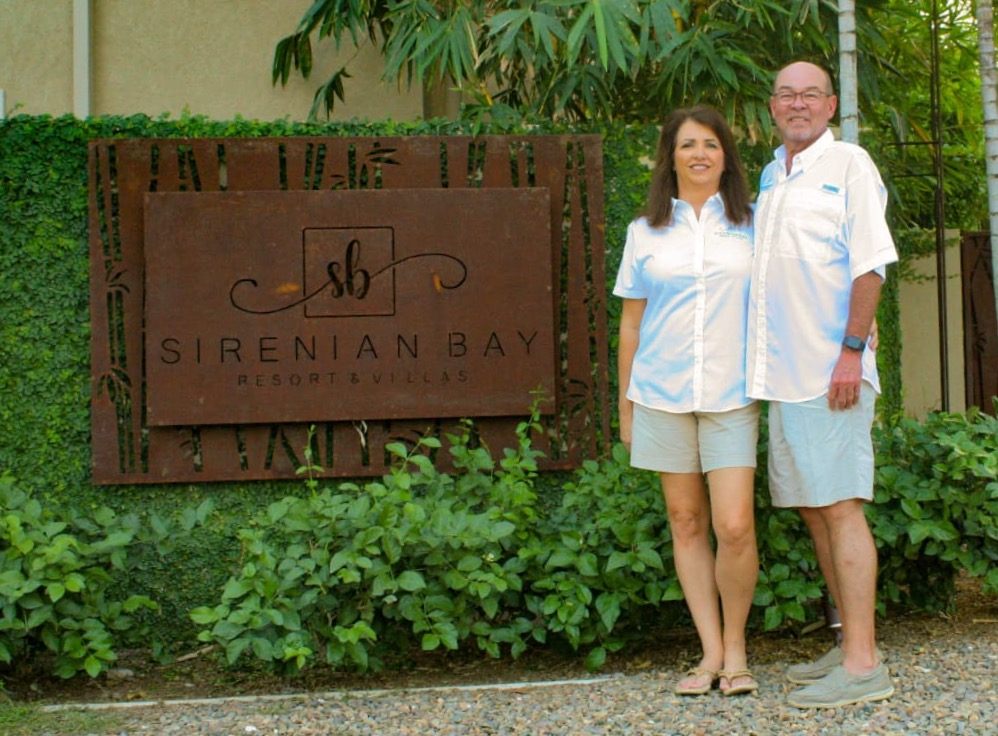 The Montgomerys and their resort, Sirenian Bay.