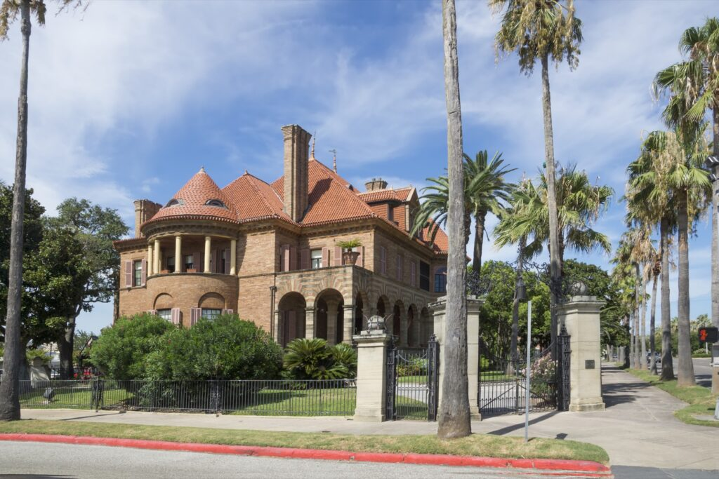 The Moody Mansion in Galveston, Texas.