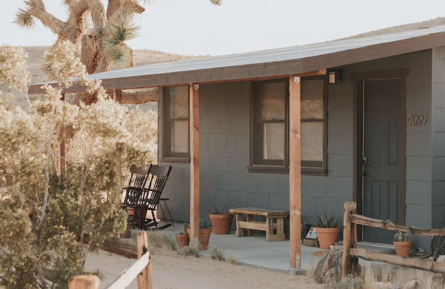 The Moon Cabin, an Airbnb rental near Joshua Tree.