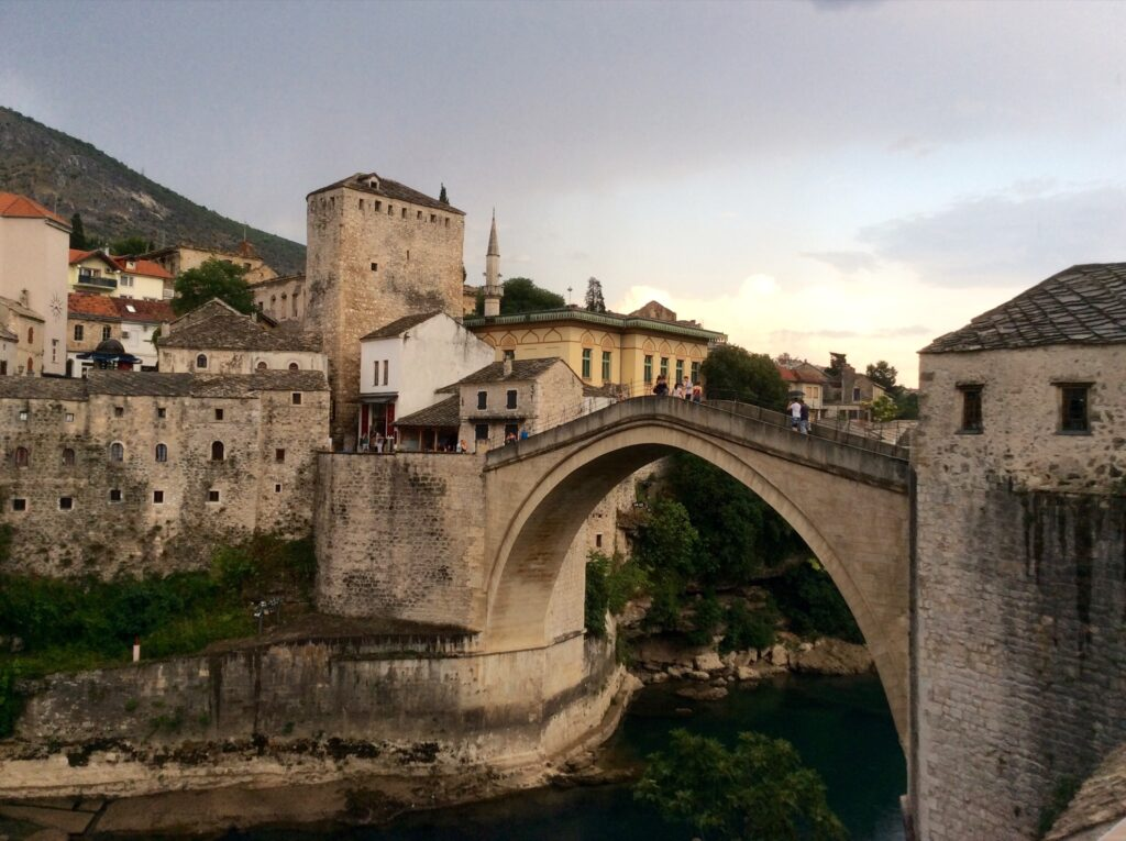 The Mostar bridge in Bosnia and Herzegovina