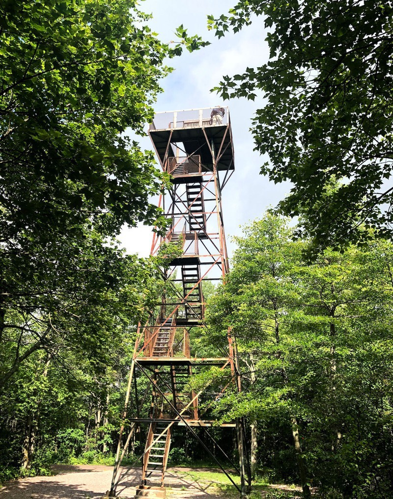 The Mount Davis observation tower in Pennsylvania.