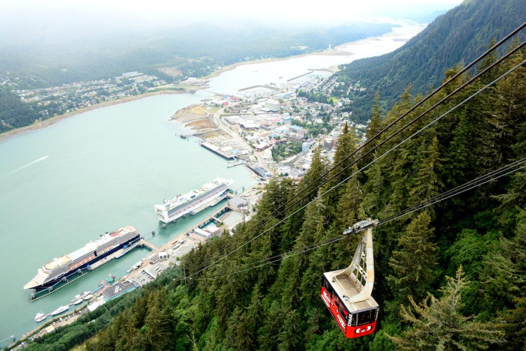 The Mount Roberts Tramway in Juneau, Alaska.