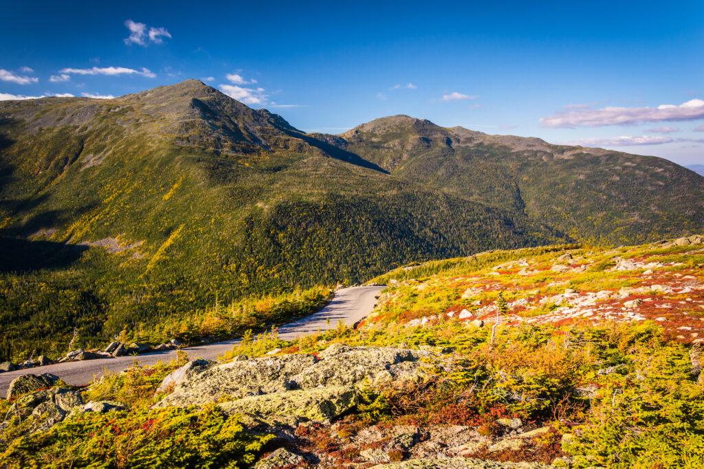 The Mount Washington Auto Road in New Hampshire.
