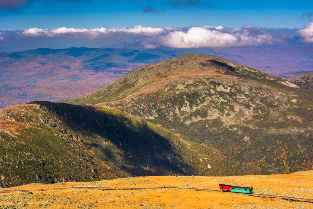 The Mount Washington Cog Railway.