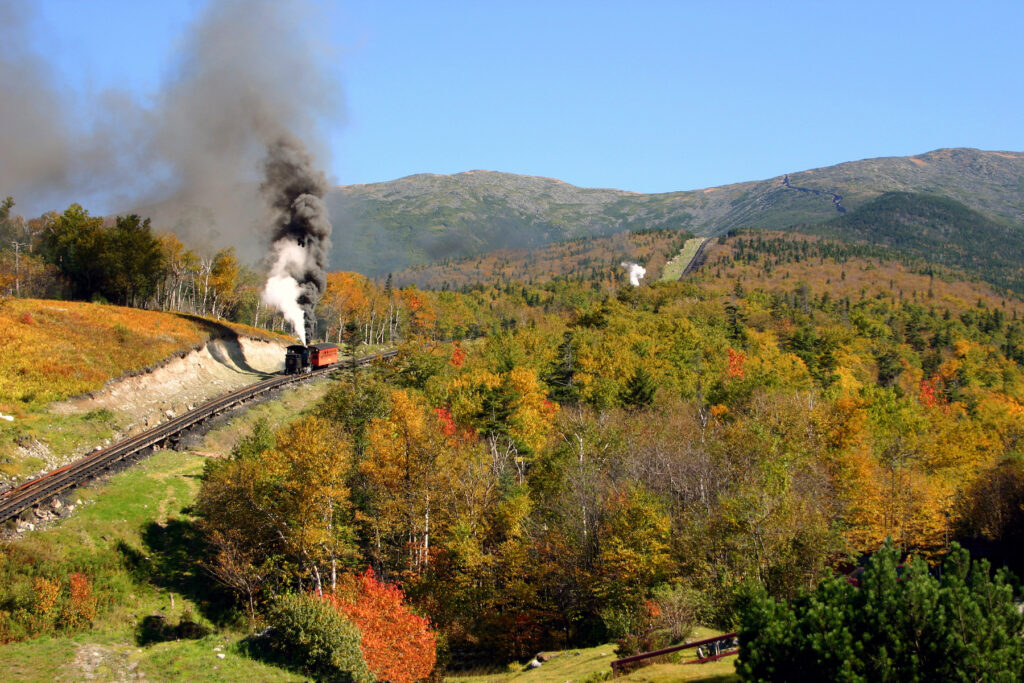 The Mount Washington Cog Railway in New Hampshire.