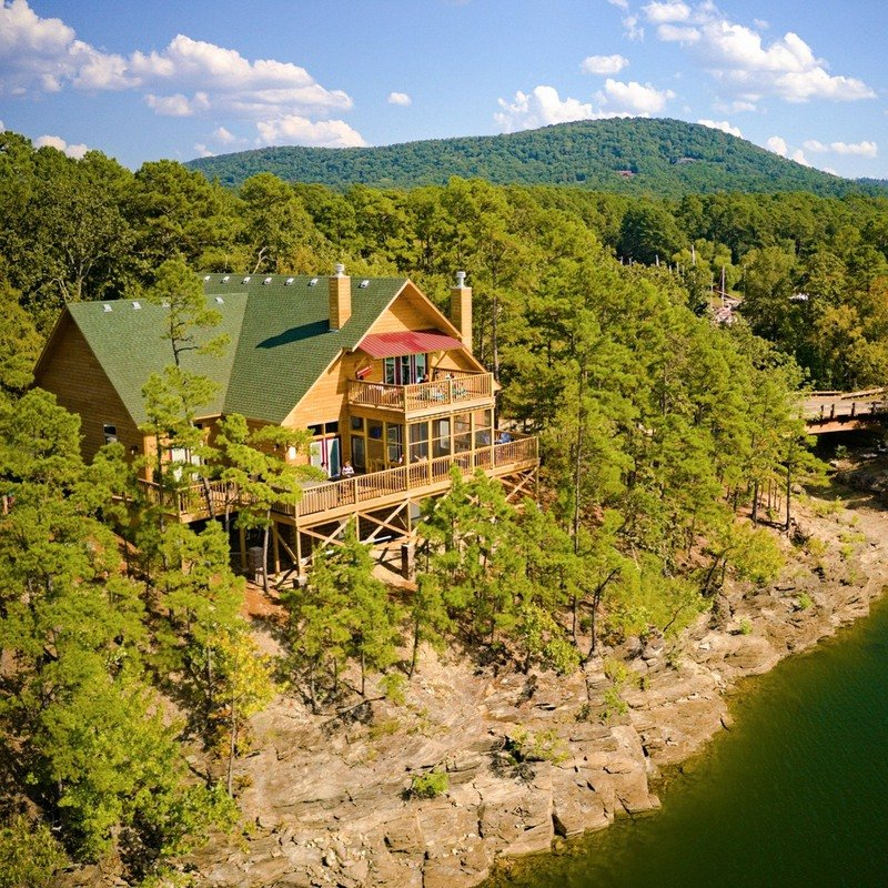 The Mountain Harbor Resort on the shores of Alabama's Lake Ouachita.