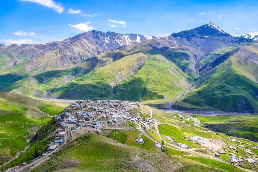 The mountain village of Xinalig in Azerbaijan.