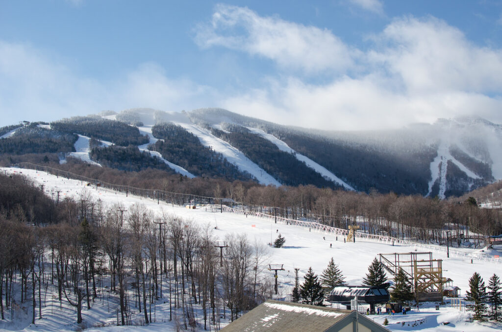 The mountains in Killington, Vermont, during winter.