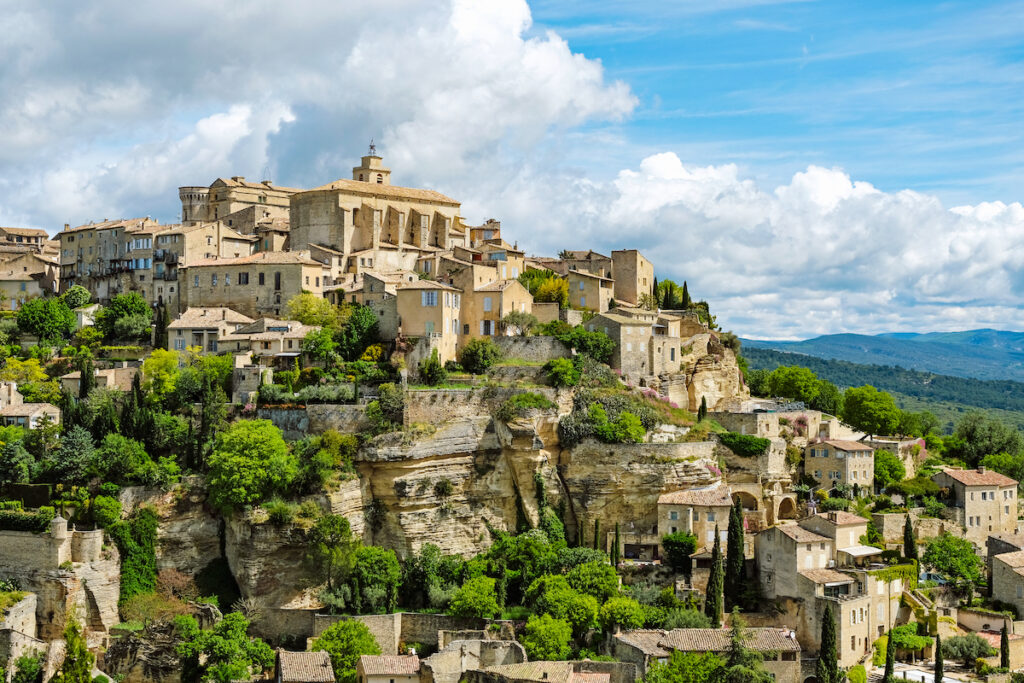 The mountaintop village of Gordes, France.