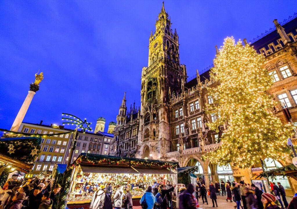 The Munchner Christkindlmarkt in Germany.