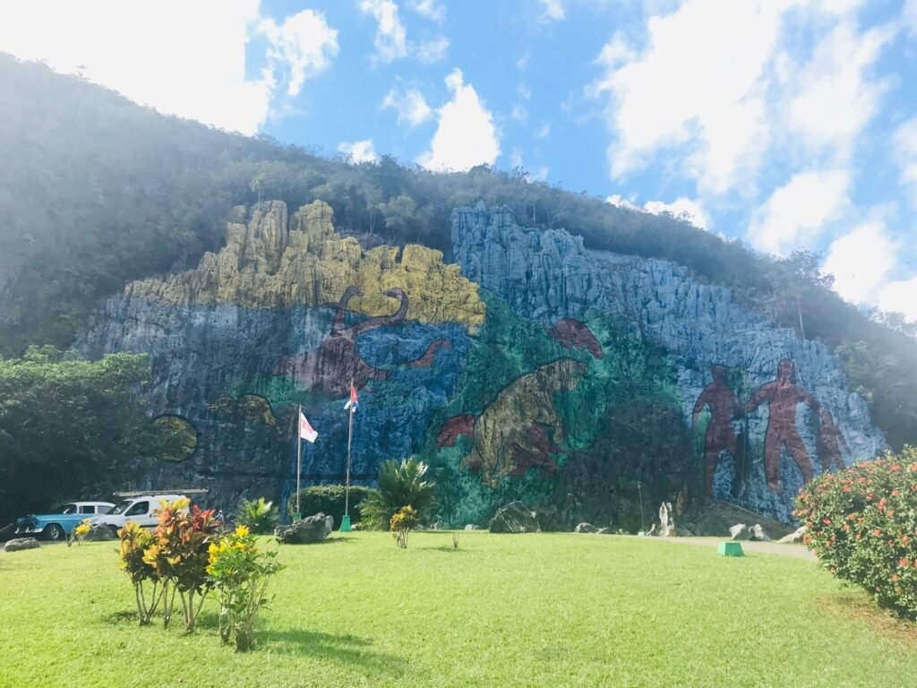 The Mural of Prehistory in Vinales.