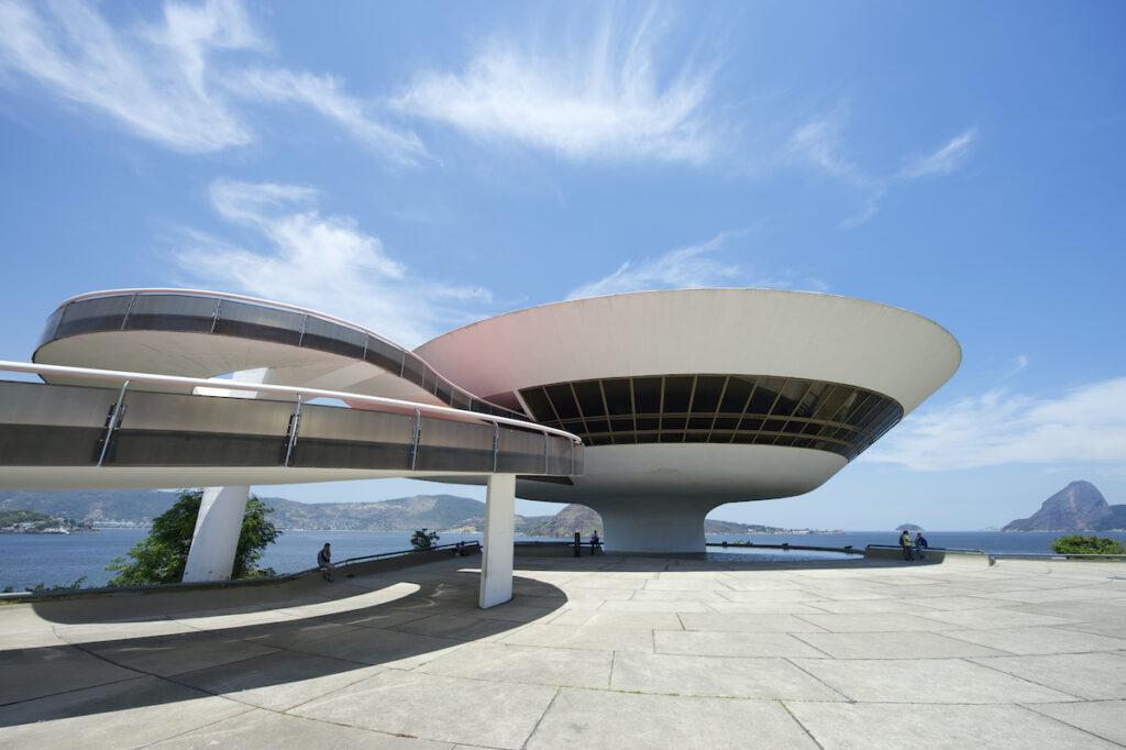 The Museum Of Contemporary Art in Rio de Janeiro.