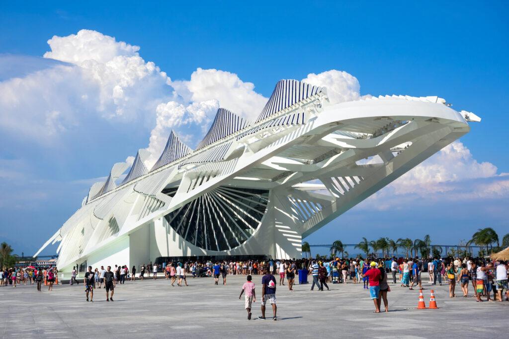 The Museum of Tomorrow in Rio de Janeiro, Brazi.