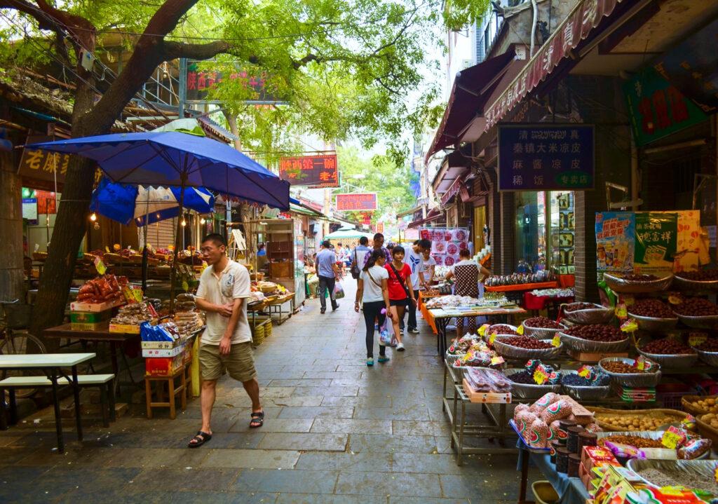 The Muslim Quarter in Xi'an.