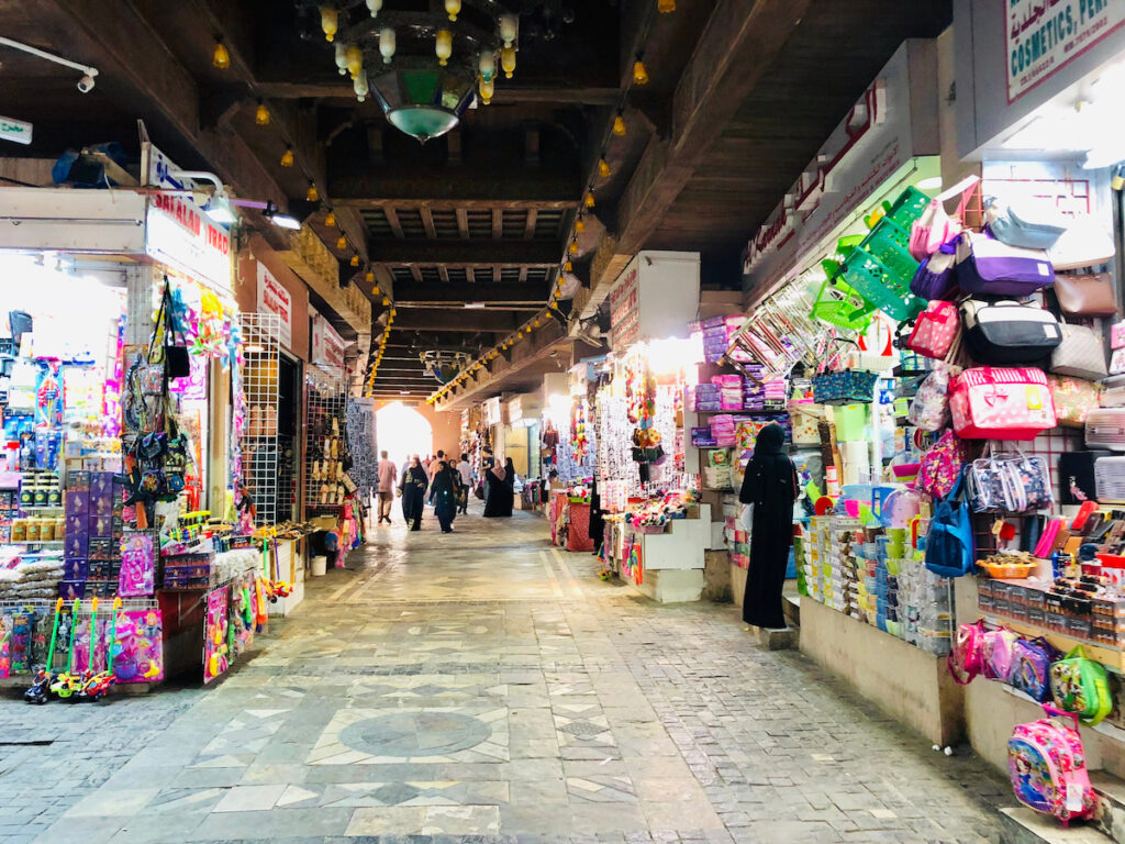 The Mutrah Souq in Muscat, Oman.