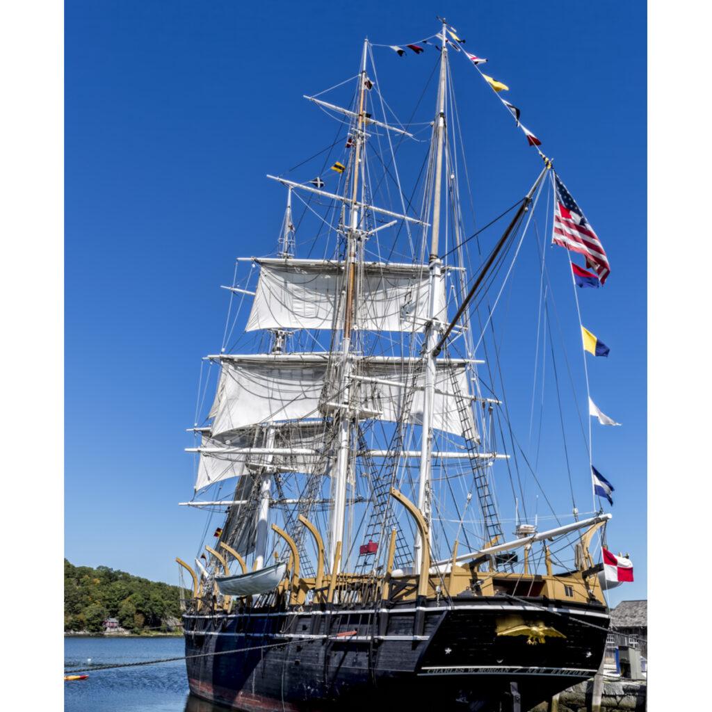 The Mystic Seaport Maritime Museum in Connecticut.