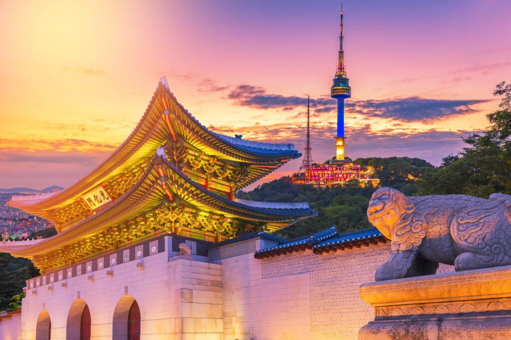 The Namsan Seoul Tower in South Korea.