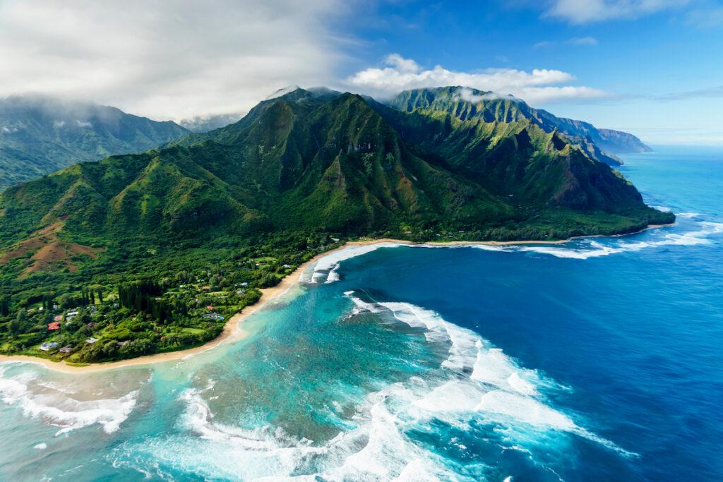 The Napali Coast on Kauai, Hawaii.