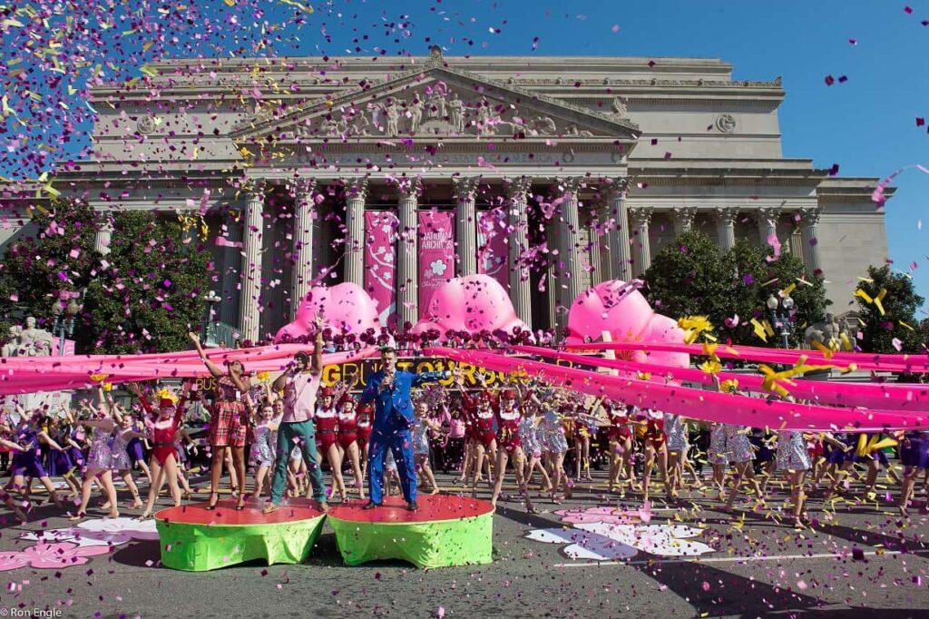 The National Cherry Blossom Festival Parade.