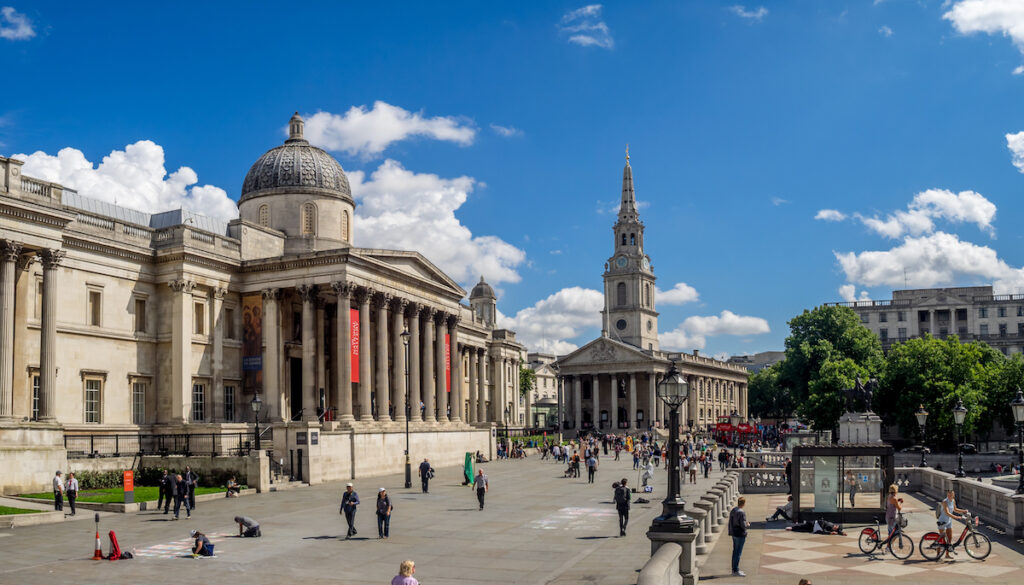 The National Gallery in Trafalgar Square.