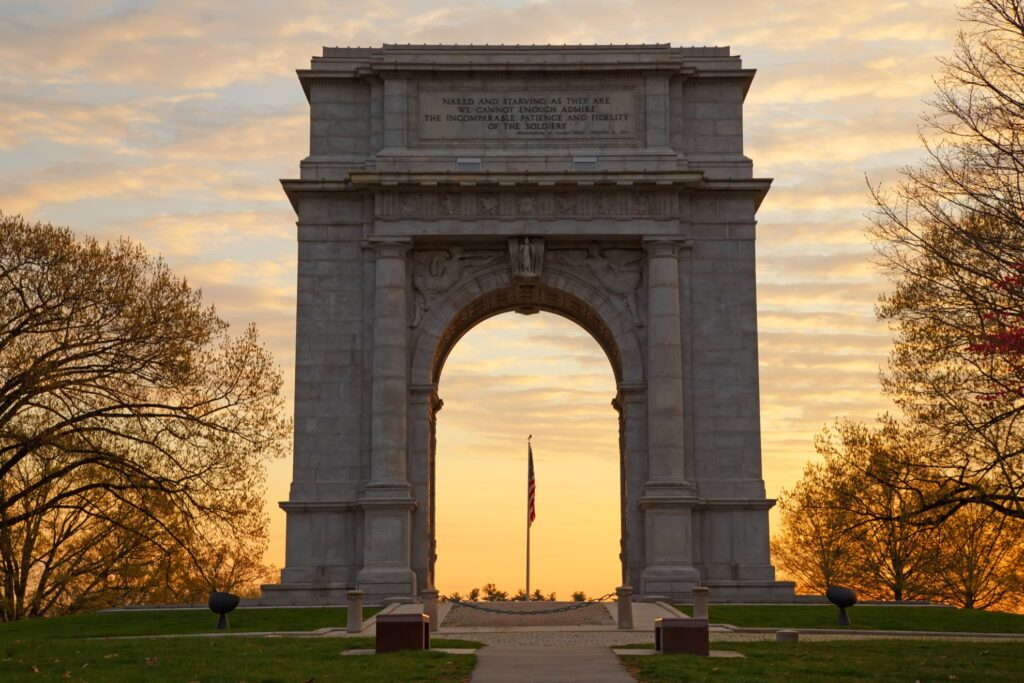 The National Memorial Arch in Valley Forge.