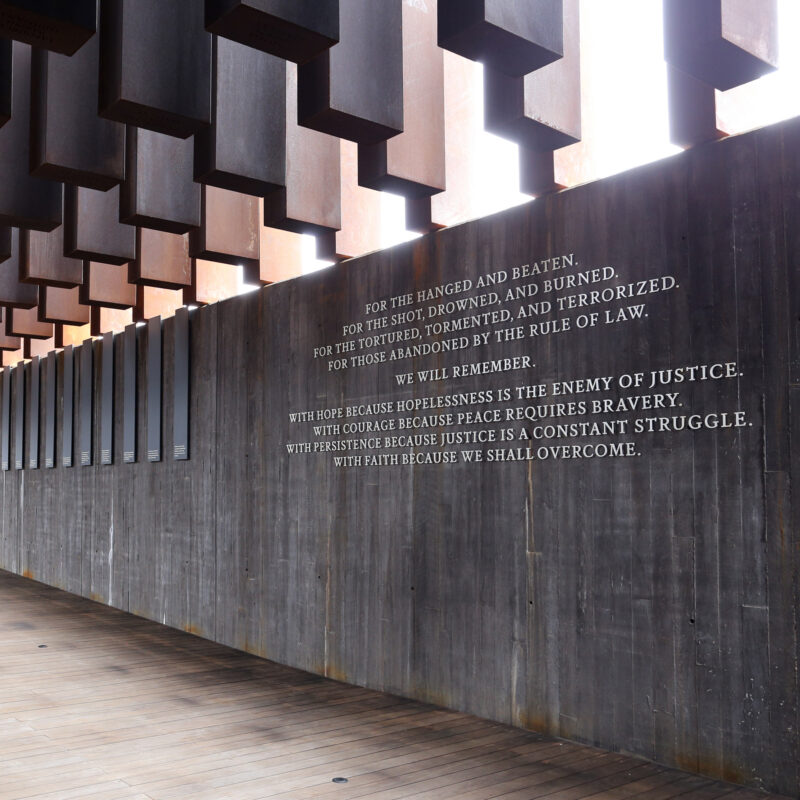 The National Memorial For Peace And Justice in Montgomery, Alabama.
