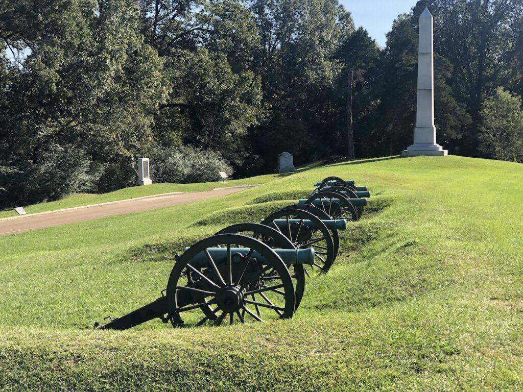 The National Military Park in Vicksburg.