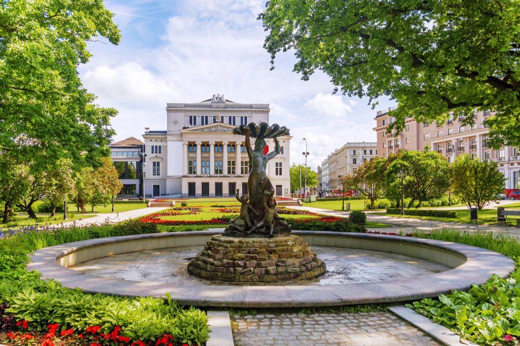The National Opera in Riga, Latvia.