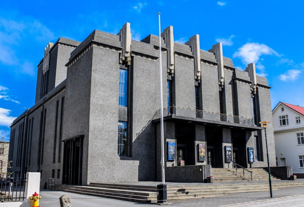 The National Theatre Of Iceland in Reykjavik.