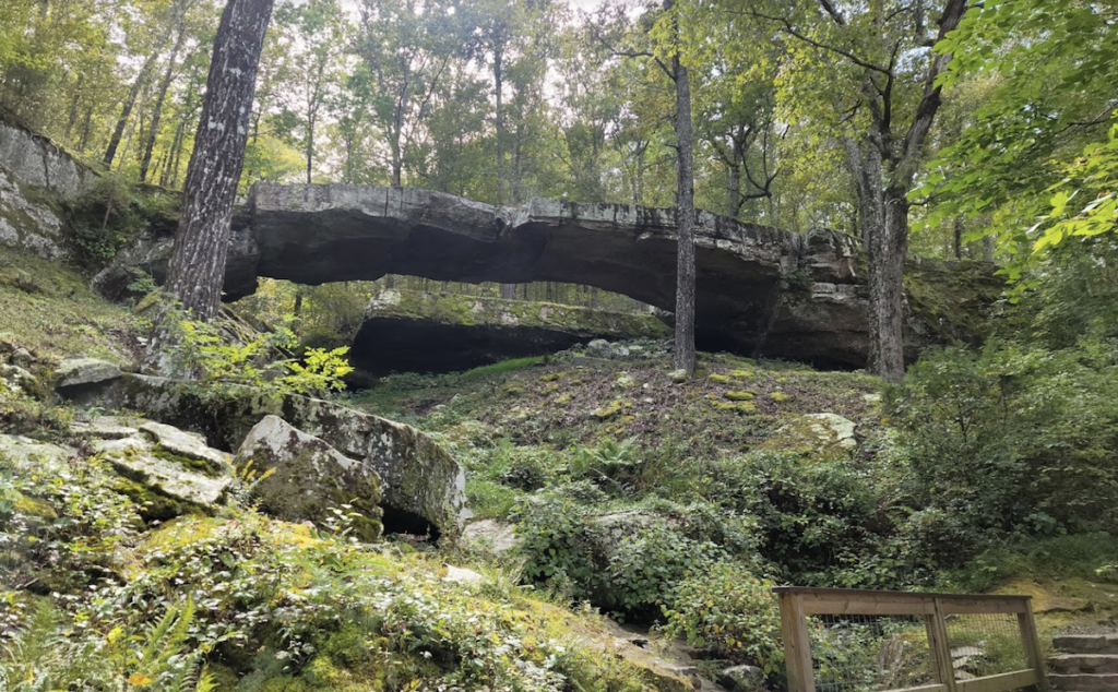 The Natural Bridge in Boxley Valley.
